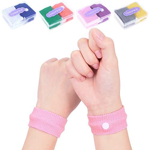 Healifty Akupressur Armband - 8 Paare - Seekrankheit Armbänder gegen übelkeit Anti-Übelkeit Bänder für Seekrankheit Schwangerschaft Fliegen Reiseübelkeit