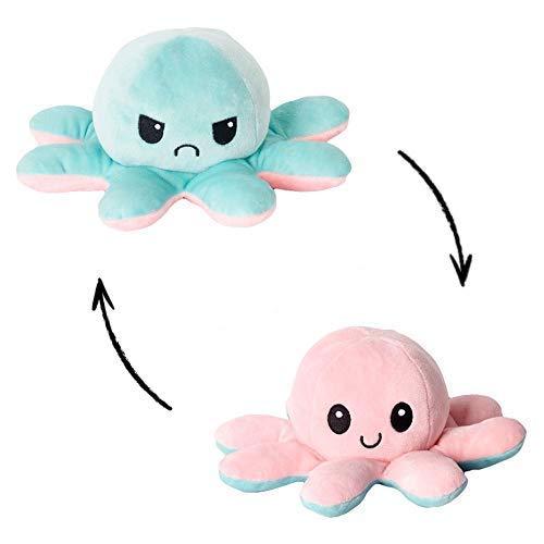 Peluche Pulpo Reversible, Pulpo de Peluche, Lindo Pulpo de Peluche, Flip Octopus Doble Cara, Juguetes Creativos, Muñeco Pulpo doble cara,...