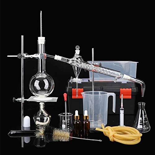 XFY Chemie Labor Glaswaren Kit, Laborglas Industrie Wissenschaft Destiller, Destillation Experiment Werkzeug für Lernexperimente/Lehrdemonstrationen