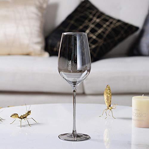 Smokey Grey Creative Glass Copa De Vino Taza De Champán Recubrimiento De La Copa Copa De Vino Sin Plomo Fiesta Familiar Juego para Beber-B_25X5.4X7.4Cmvaso De Cristal