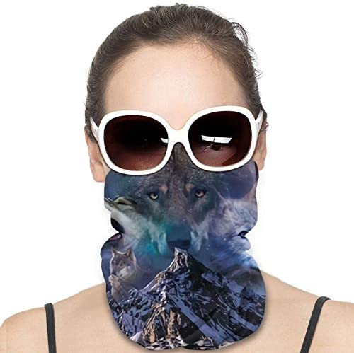 Howling Wolf Night Forest Wolves Face Mask Cover Masks Balaclava Headband Scarf Neck Gaiter product image