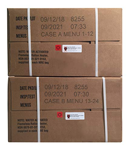 Ozark Outdoorz 09/2018 Pack, 09/2021 Inspection US Military MRE A OR B Case (A and B Case)
