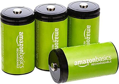 Amazon Basics - Pilas recargables (1,2 V, 5000 mAh, Ni-MH), 4 unidades