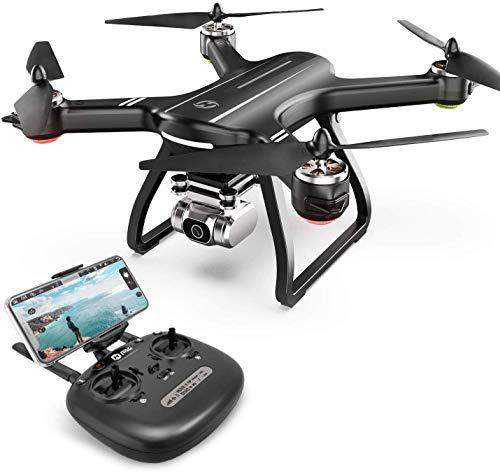 Holy Stone HS700D FPV Drohne mit 4K Kamera HD Live Übertragung und GPS Return Home,RC Quadrocopter ferngesteuert mit Follow Me,Lange Flugzeit,5G WiFi,brushless Motoren Modulare Batterie für Anfänger