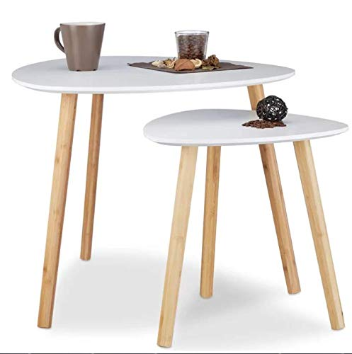 Norden Home Hough 2 Piece Contemporary Nest of Tables