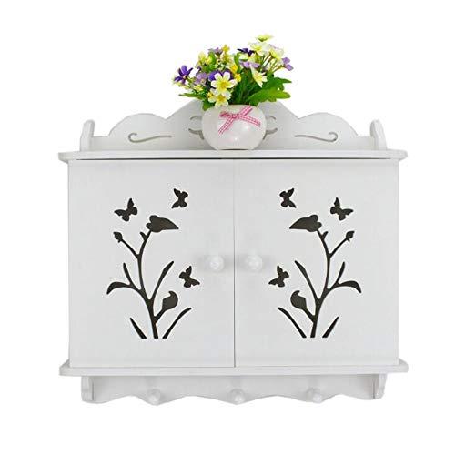 JCNFA Rekken Wandmontage Router Box, Meter Box Opbergkast, Holle Rolluiken, Houten Kunststof Board, Slaapkamer Wanddecoratie, Wandkast, 3 Stijlen 19.29 * 2.36 * 16.14in Phalaenopsis