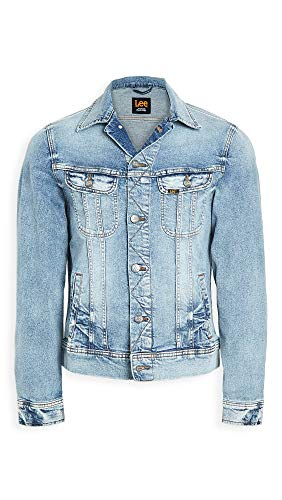 Lee Men's Denim Jacket, Faded, Blue, Large
