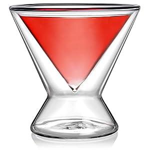 Dragon Glassware Martini Glasses, Lead-Free Stemless Insulating Double...