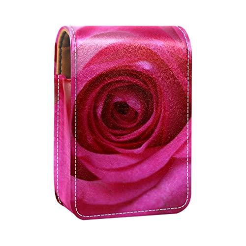 Boîte d'emballage de rouge à lèvres,avec miroir,rose rose