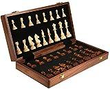 Ajedrez ajedrez Conjunto de Madera Maciza Tablero Plegable de Madera Ajedrez Niños Adulto Juegos educativos Actividades Familiares Tablero de ajedrez (Size : A:15.3X15.3X2.5ih)