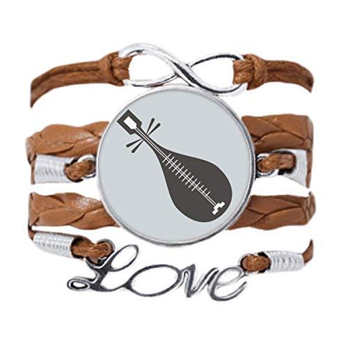 DIYthinker Pipa Instruments - Pulsera de cadena de amor, diseño de instrumentos china, regalo