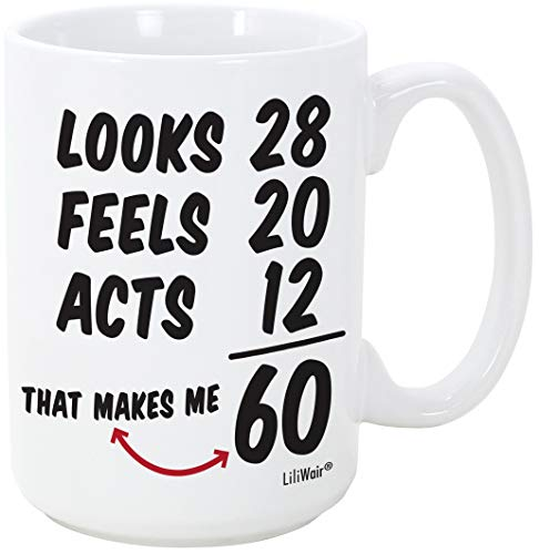 60th Birthday Gift For Women Sixty Years Old Men Gifts Mug Happy Funny 60 Mens Womens Womans Wifes Female Man Best Friend 1961 Mugs Male Unique Ideas 60 Woman Wife Gag Dad Cute Girls Guys Good Husband