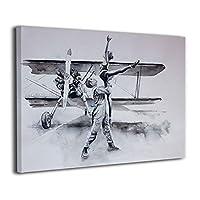 Skydoor J パネル ポスターフレーム ダンス 航空機 インテリア アートフレーム 額 モダン 壁掛けポスタ アート 壁アート 壁掛け絵画 装飾画 かべ飾り 30×40