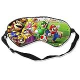 Ma-Rio Party Sleep Mask for Men Women, Comfortable Eye Cover Soft Eye Mask, Adjustable Blindfold for Travel/Nap/Sleeping