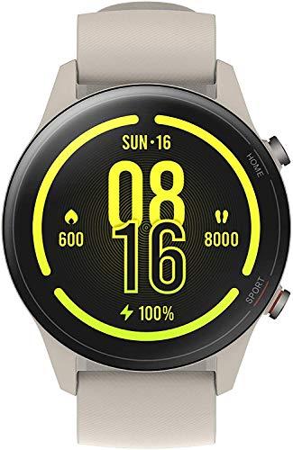 Xiaomi Smart Mi Watch Sport Color AMOLED Edition Multi Dial Bracelet Long Battery Watch Sport Fitness Heart Rate Mi Watch (Beige)