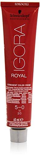 Schwarzkopf IGORA Royal Premium-Haarfarbe 5-0 hellbraun, 1er Pack (1 x 60 g)