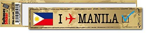 FP-023-04 フットプリント ステッカー マニラ MANILA スーツケースステッカー 機材ケースにも! (地図柄)