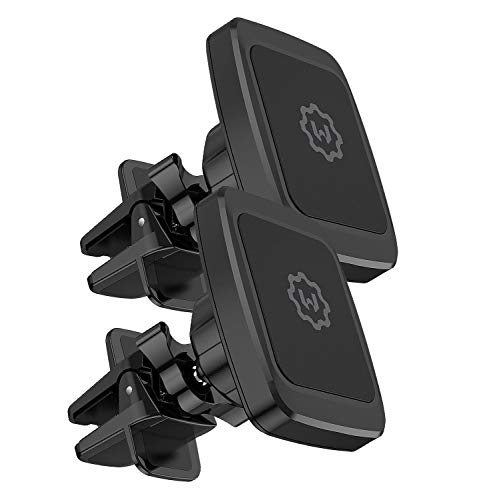 Magnetic Phone Car Mount, WixGear [2 Pack] Air Vent Car Phone Mount Holder, Phone Holder for Car with Twist-Lock base, Compatible with iPhone Xs Max 8/7/6, Google Pixel 3 XL, Samsung Galaxy S and More