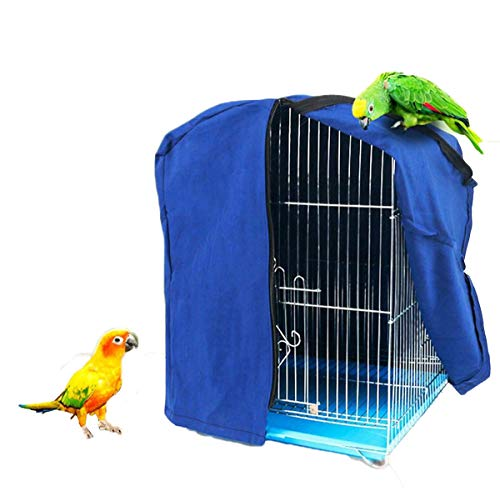 Bonaweite Bird Parrot Cage Cover Shade, Windproof Light-Proof Sleep Reduces Distractions Night Accessories Cloth Without Cage