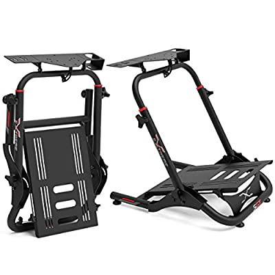 Extreme Sim Racing Wheel Stand Cockpit SGT Racing Simulator - Black Edition For Logitech G25, G27, G29, G920, Thrustmaster And Fanatec - Heavy Dutty and Foldable