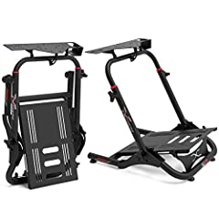 """✔️ Ships almost completely assembled. Minimal assembly effort required and 5/64"""" Steel Tubing for ROCK SOLID stability. Compatible and drilled for all major brands, including Logitech, Thrustmaster & Fanatec. ✔️ Folds up for easy storage and the rugg..."""