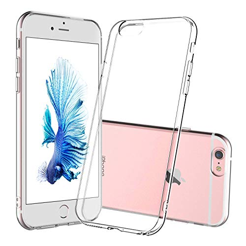 DOSMUNG Custodia per iPhone 6/6s, TPU Silicone iPhone 6/6s Protettiva Case, Morbido Slim Cover [Anti-caduta] [Anti-graffio] [Anti-ingiallimento] [Supporta Ricarica Wireless] Clear Case per iPhone 6/6s