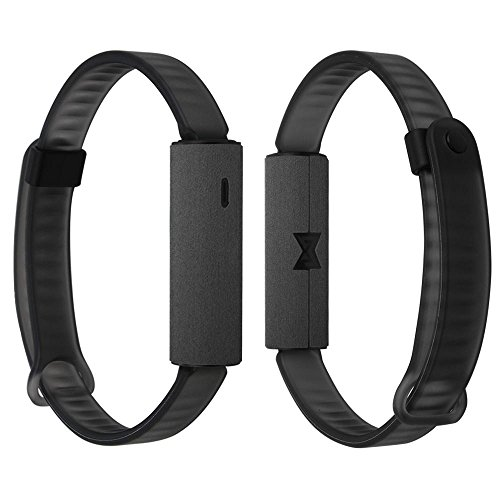 Skinomi Brushed Steel Full Body Skin Compatible with Misfit Ray Fitness Tracker (Full Coverage) TechSkin Anti-Bubble Film