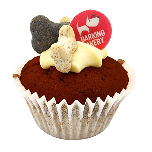 De Blaffende Bakkerij Carob non Chocolade Iced Vanille Bone Cupcake Muffin Woofin