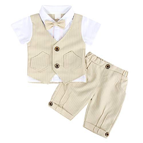 AmzBarley Bebé Niño Caballeros Traje de Esmoquin Formal Camisa de Vestir Vtuendo...