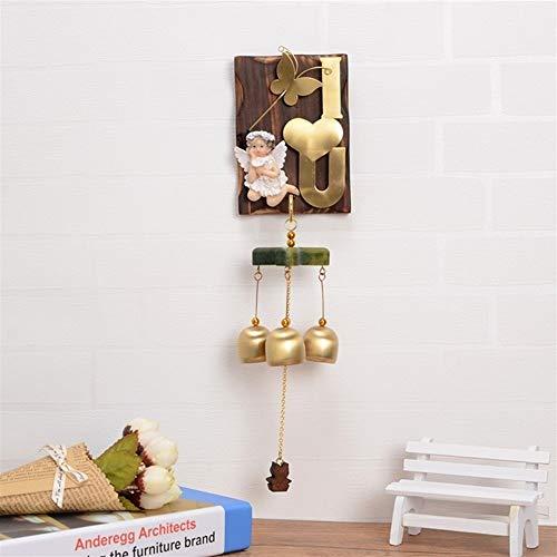 LXJ Wind Chimes, deurbel, outdoor tuinen en interne windspelen, Japanse kunst massief houten koperen vogel wind chimes meisjes vakantie geschenken Home Decoration wandbehang deurbel