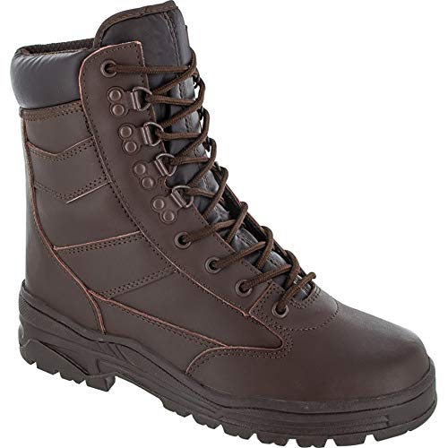 Highlander Boys Delta Military Leather Lace Up Winter Walking Boots