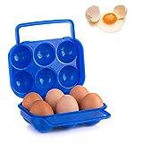 卵ケース 卵保護ケース 収納 トレイ ボックス たまご エッグ携帯ケース キャンプ エッグホルダー 台所 耐衝撃性 ピクニック携帯用 便利 ミニ プラスチック 折りたたみ可能 6マス