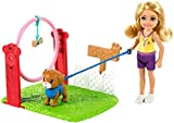 Barbie Chelsea Can Be Dog Trainer Playset with Blonde Chelsea Doll (6-in), Dog & Leash, Jumping Hoop, Obstacle Cones, Training Treats & More, Great Gift for Ages 3 Years Old & Up