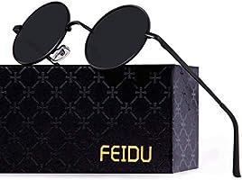 FEIDU Polarised Vintage Sunglasses man - Retro Round Sunglasses Unsiex FD3013