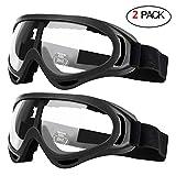 2er Pack Schutzbrille für Kinder Schutzbrillen Arbeit mit Windbeständigkeit und UV400-Schutz Perfekt für Foam Blasters Gun