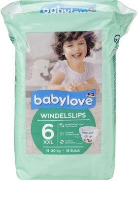 babylove Pants - Slip per pannolini, taglia 6, XXL, 18-30 kg, 18 pezzi