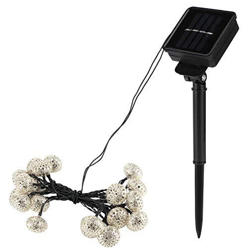 Emoshayoga La Secuencia 20LED Enciende Las Luces solares para Decorar el Patio de los Jardines para Proporcionar Lightingt