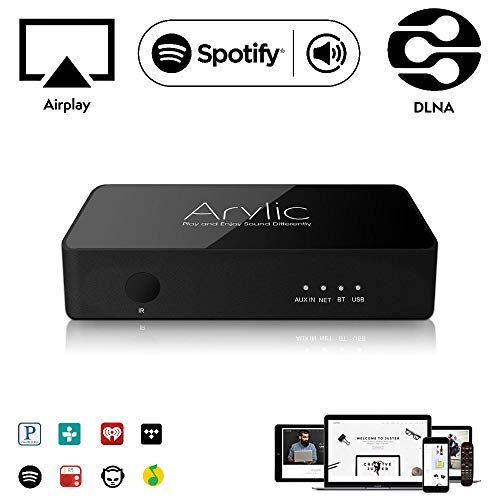 WLAN WiFi & Bluetooth Audio Empfänger Airplay DLNA | Arylic S10 | Kabelloses Streaming | Multiroom Sync | 24bit 192kHz Decodierung | Spotify Connect, Tidal, Deezer, TuneInRadio | LAN Verbindung
