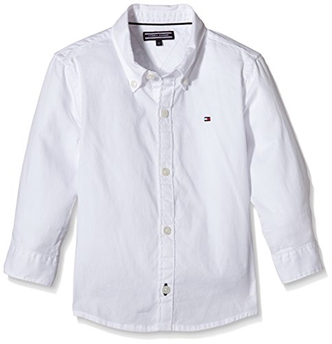 Tommy Hilfiger Tommy Hilfiger Baby-Mädchen Umstands Tunika Solid Oxford Shirt L/s, Weiß (CLASSIC WHITE 100), 74cm