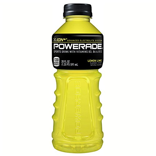 POWERADE, Electrolyte Enhanced Sports Drinks w/ vitamins, Lemon Lime, 20 fl oz, 24 Pack
