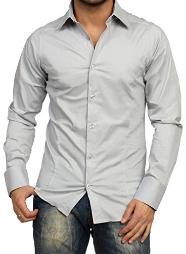 Chemise manches longues unie homme Coupe slim fit Business - Taille L