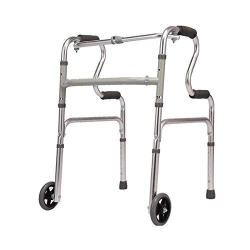 Rollator de 2 Ruedas Caminador Plegable, Andador para minusválidos, Altura Ajustable Caminante Anciano, Aluminio, Ligero, Empuñaduras Ergonómicas,B 🔥