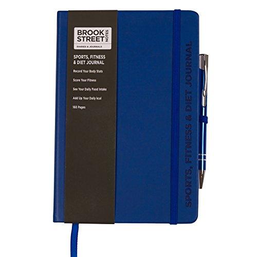 Notizbuch für Sport, Fitness und Ernährung, DIN A5 A5 dunkelblau