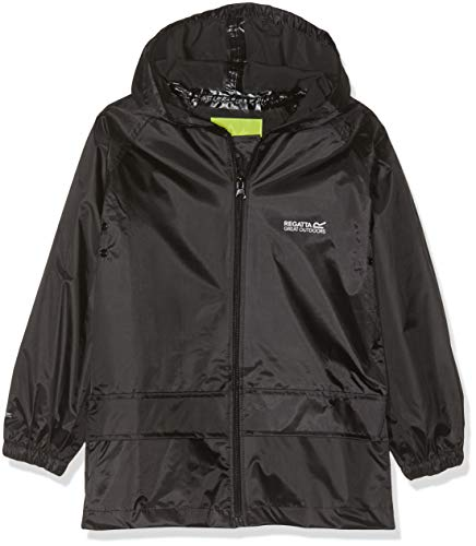 Regatta Unisex Kids Storm Break Waterproof Jacket Black 11 12 Years