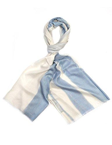 Boldog & Laube Cashmere/Modal-Tuch Foulard tour de cou, Multicolore - Mehrfarbig (natur/blau 19), Taille unique Unisexe