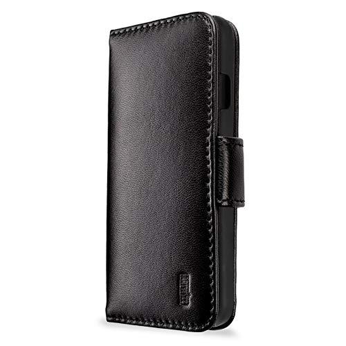 Artwizz SeeJacket Leather Etui für iPhone 8 Plus & 7 Plus - Elegante Schutz-Hülle im stilvollen Business-Look aus Echt-Leder mit Magnetverschluss - Case Designed in Berlin - Schwarz - 1361-1886