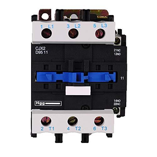 ETial CJX2-9511 Distribución de CA Contactor eléctrico 24V 50Hz / 60Hz Bobina 95A Trifásica 3 polos NO NC