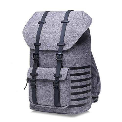 Travel Backpack for Men Women,15.6'Inch Notebook Laptop Backpack Large Capacity Tourist Knapsack Gray n Thin Stripes