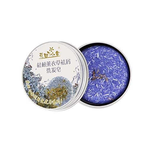 Shampooing Bar, Angmile Solide Bar Shampooing Savon Croissance des Cheveux Savon Bar pour la Perte de Cheveux Nettoyage Usine Essence Shampoo & Conditioner 100% Naturel Fait à la Main (Lavande)
