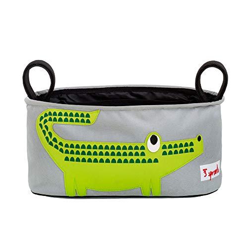 3 Sprouts Krokodil Kinderwagentasche, Grün